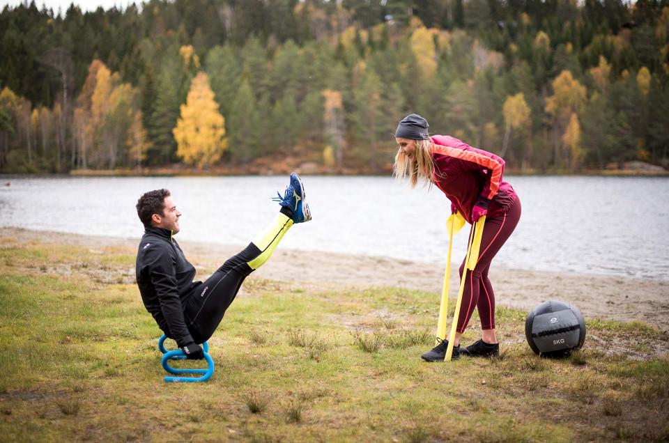 Träna hela kroppen med träningsband!